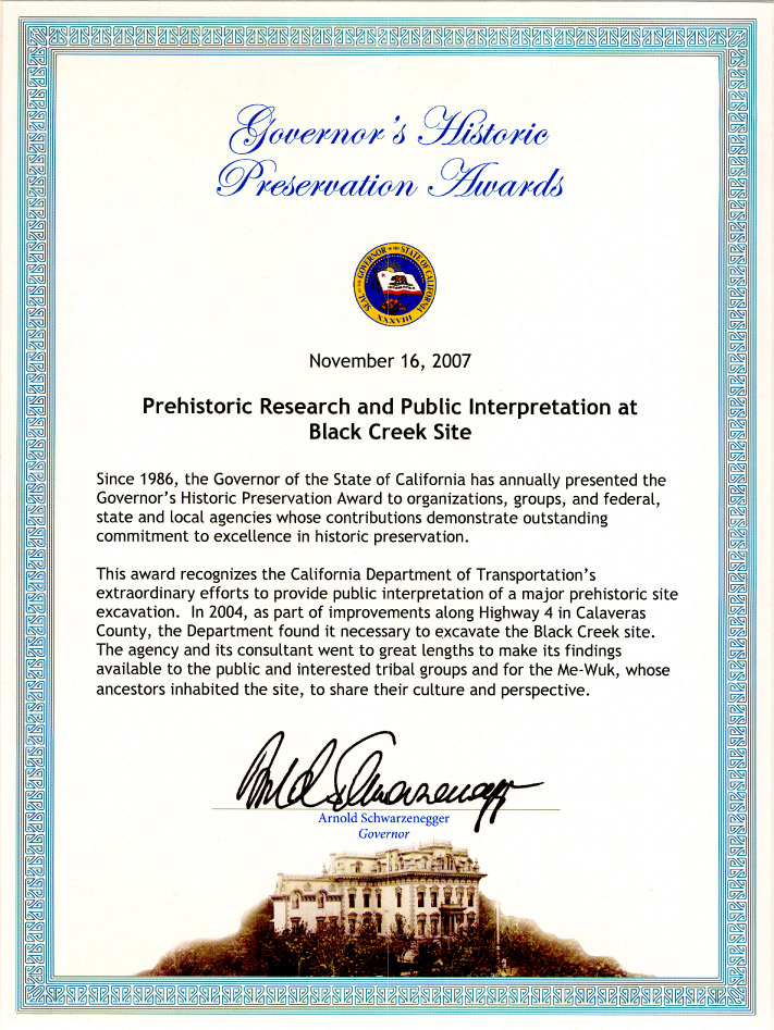 Governors Historic Preservation Award - Black Creek Site 2007 for Web.jpg